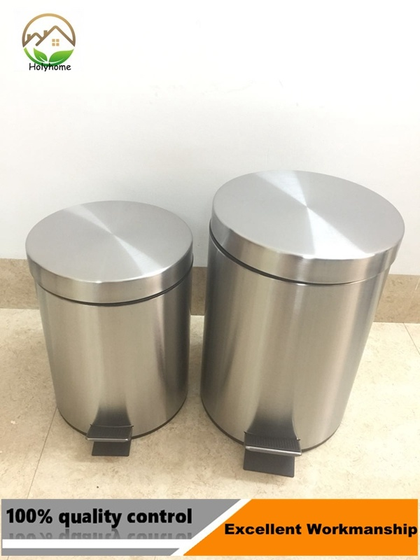 China Stainless Steel Dustbin Trash Can With Foot Pedal Photos Pictures Made In China Com