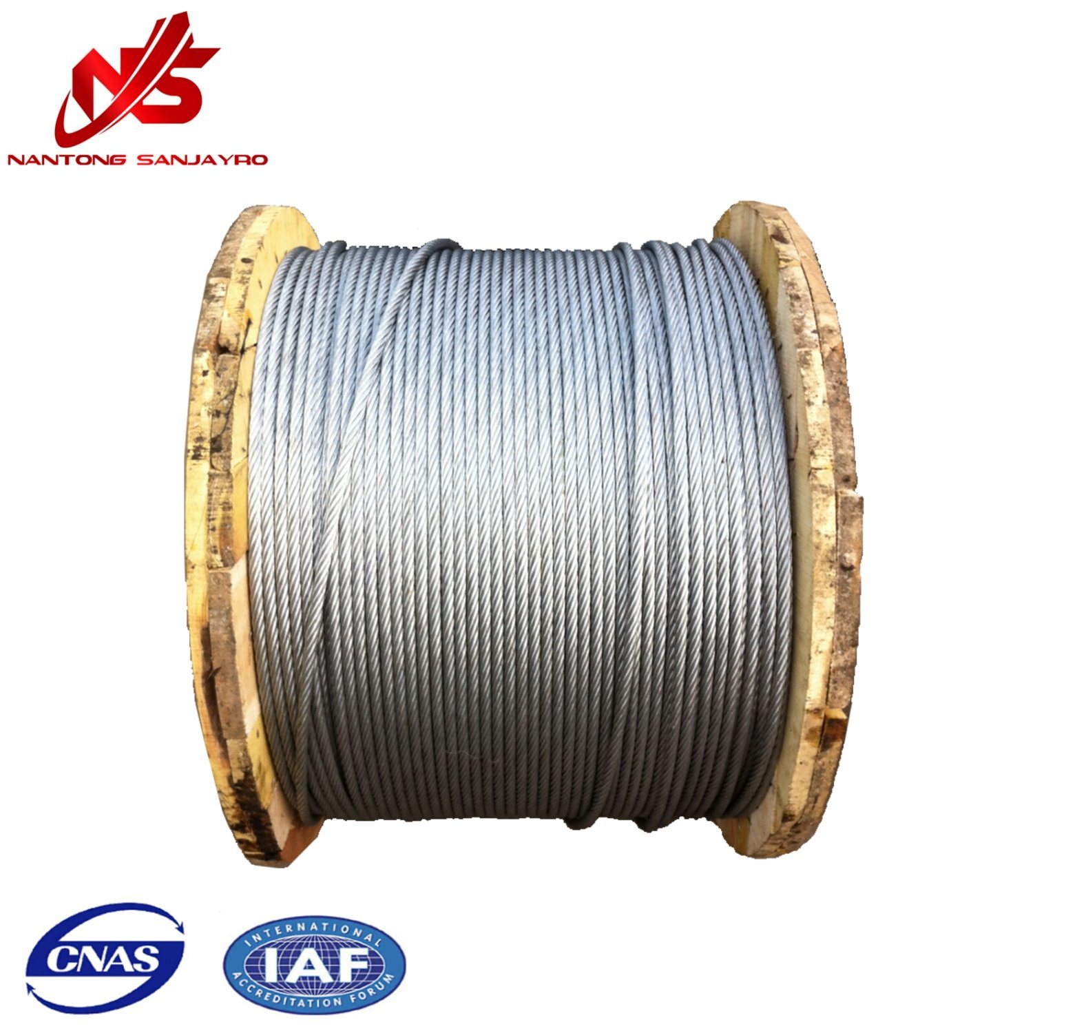 China Galvanized Steel Wire Rope Cable Aircraft 6X19 for Derricking ...