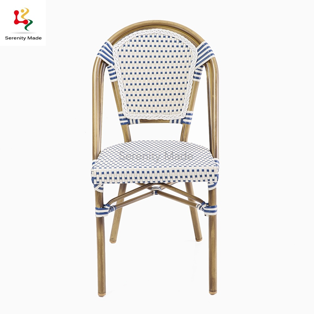 China Outdoor Furniture Stacking French Bistro Rattan Cafe Dining Chairs China French Bistro Chairs Stacking Bistro Chairs
