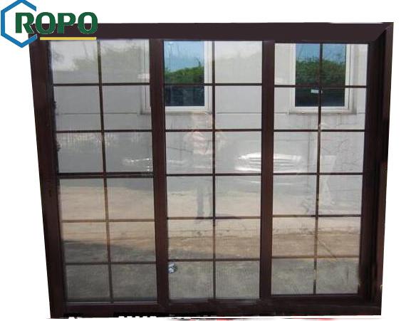 [Hot Item] Wooden PVC Sliding Door, Sliding Glass Door Grill Design