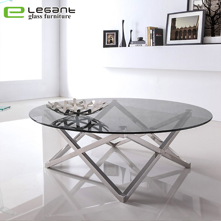 China Tempered Glass Center Table With Stainless Steel Base China Coffee Table Glass Table,Stair Modern Simple Iron Railing Design