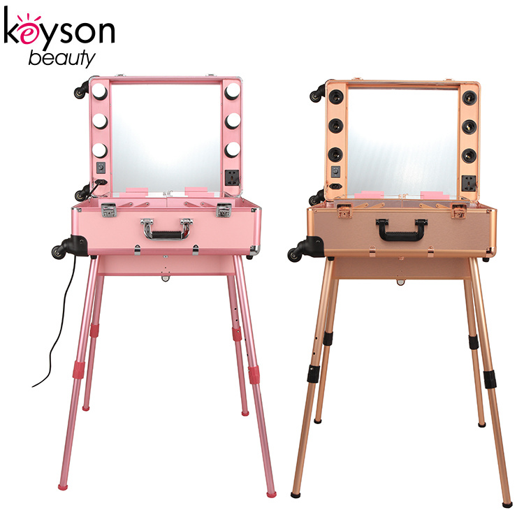 ... china keyson new arrival trolley travel makeup station case with led lightirror china makeup station with ...