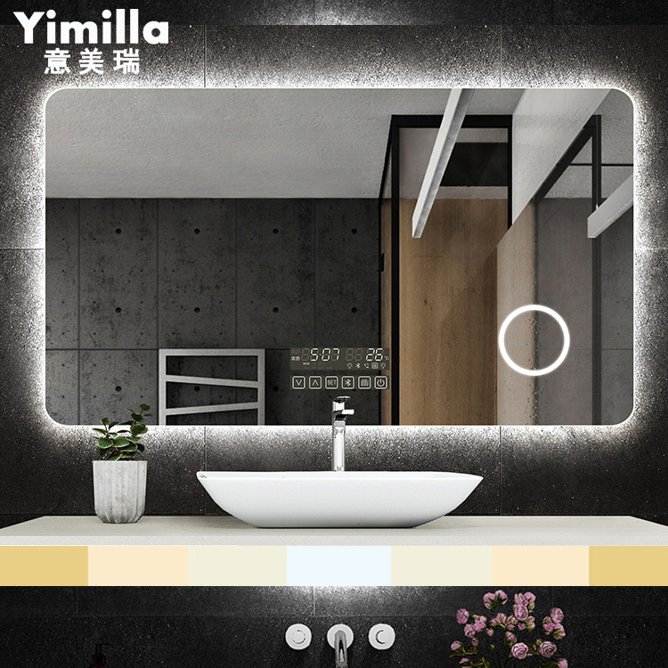 China Hd Glass Mirror Bathroom Led Mirror With Anti Fogging Mirror China Bathroom Tv Mirror Bathroom Mirror Light Led