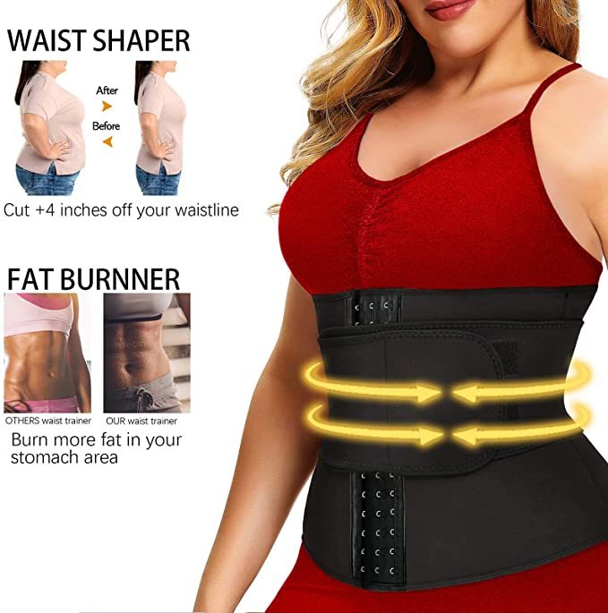 Waist Trainer Body Shaper Corset Sweat Tummy Slimming Belt for Women Weight Loss