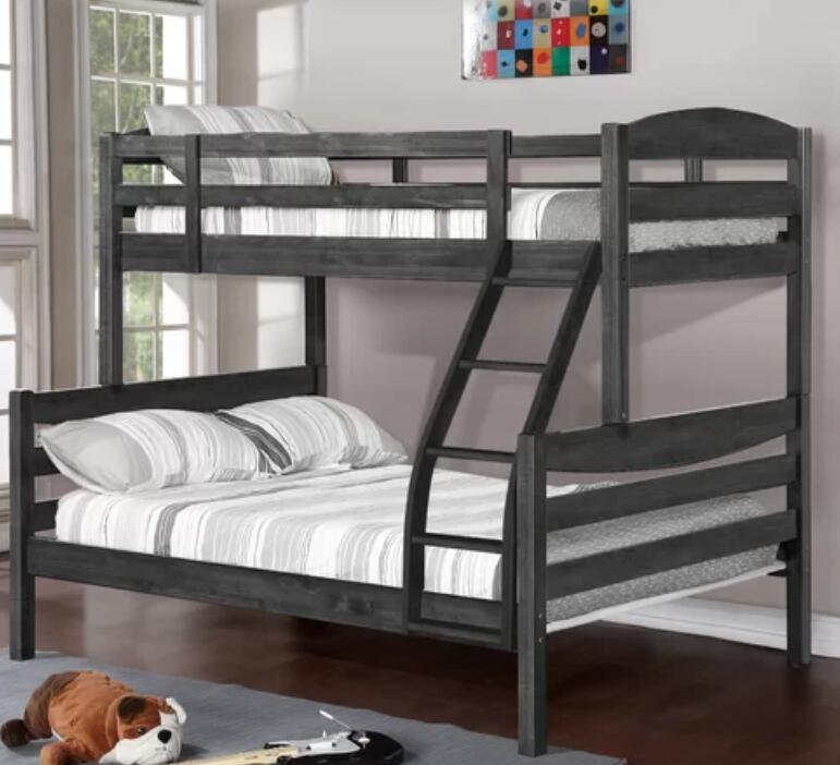 China K1535 High Quality Brown Triple Wooden Bunk Bed For 3 Children China Bunk Bed Triple Bed