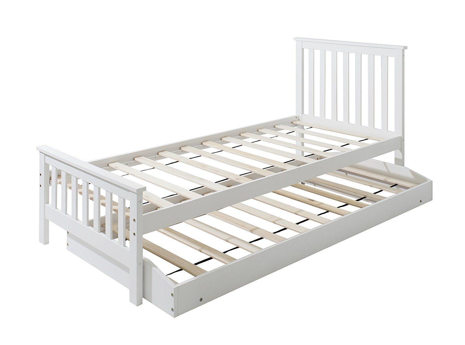 Picture of: China 2 In 1white Pine Wood Single Bed With Extra Sleepover Bed For Bed China Junior Bed Children Beds