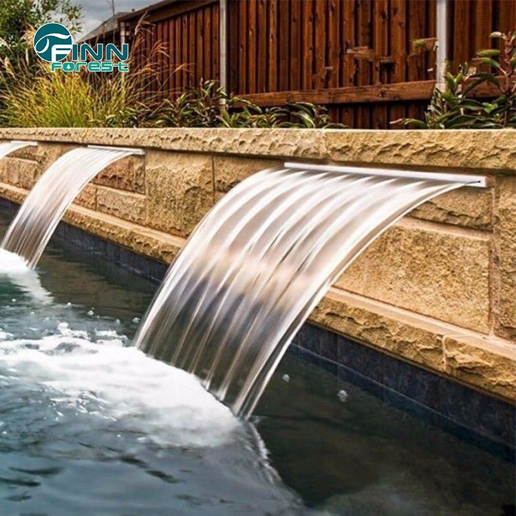 [Hot Item] Backyard Wall Mounted Artificial Swimming Pool Wall Waterfall