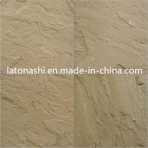 Polished Australian Range Beige Sandstone Tiles For Hotel Floor Covering