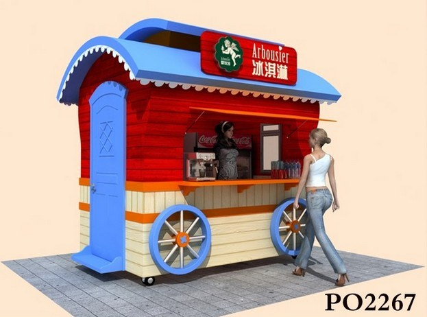 Unique Design Outdoor Kiosk/ Outdoor Fast Food Kiosk/ Modern Street Food Kiosk for Sale pictures & photos