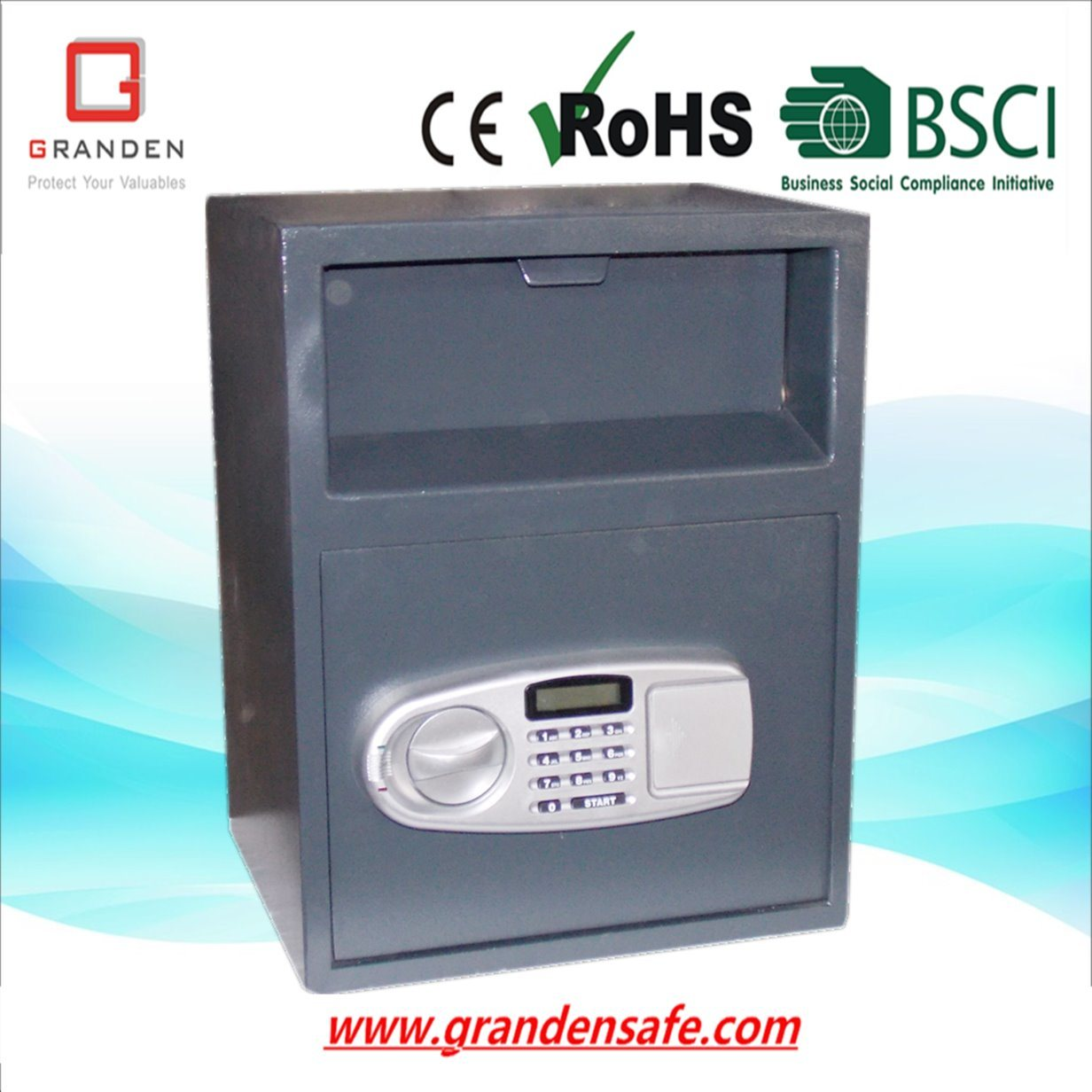 Depository Safe with Open&Close Tray (DP-450EL) , Solid Steel