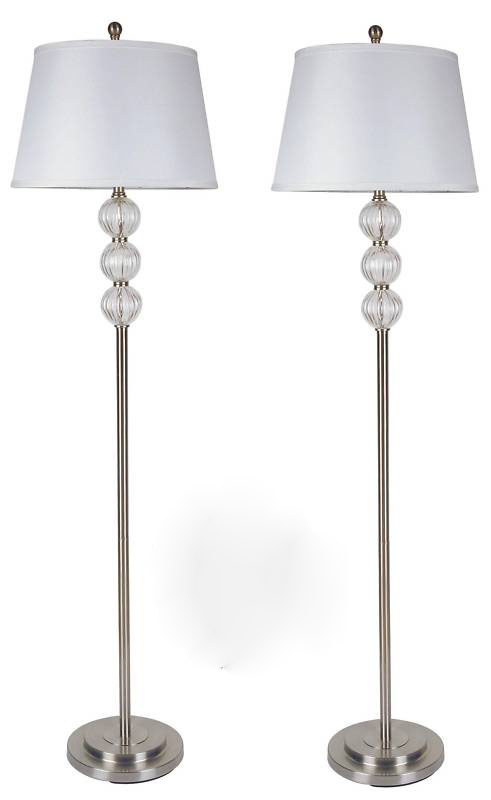 China 58 2 Pack Crystal Floor Lamp Set