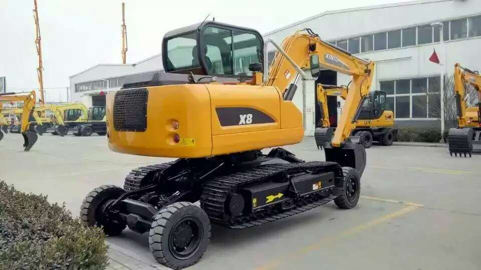 World Design Excavator X8, 8ton, 0.3 Bucket, Wheel and Crawler Excavator