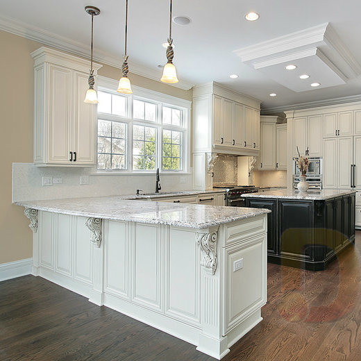 Double Sided Wood Kitchen Cabinets