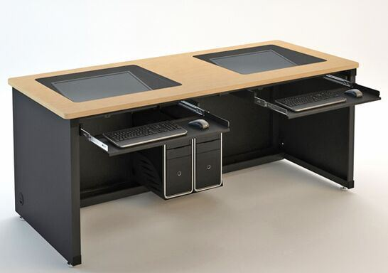 Reversible Wooden Student School Flip Smart Computer Desk Table