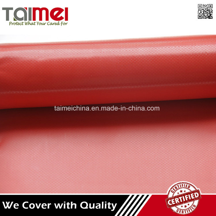 Red Color Waterproof PVC Coated Fabric for Truck Cover pictures & photos