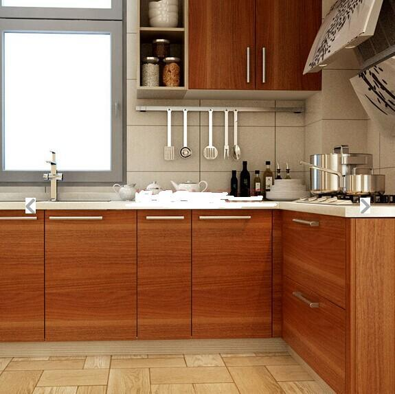 New Laminate MDF Beech Wood Kitchen Cabinet (ZHUV)