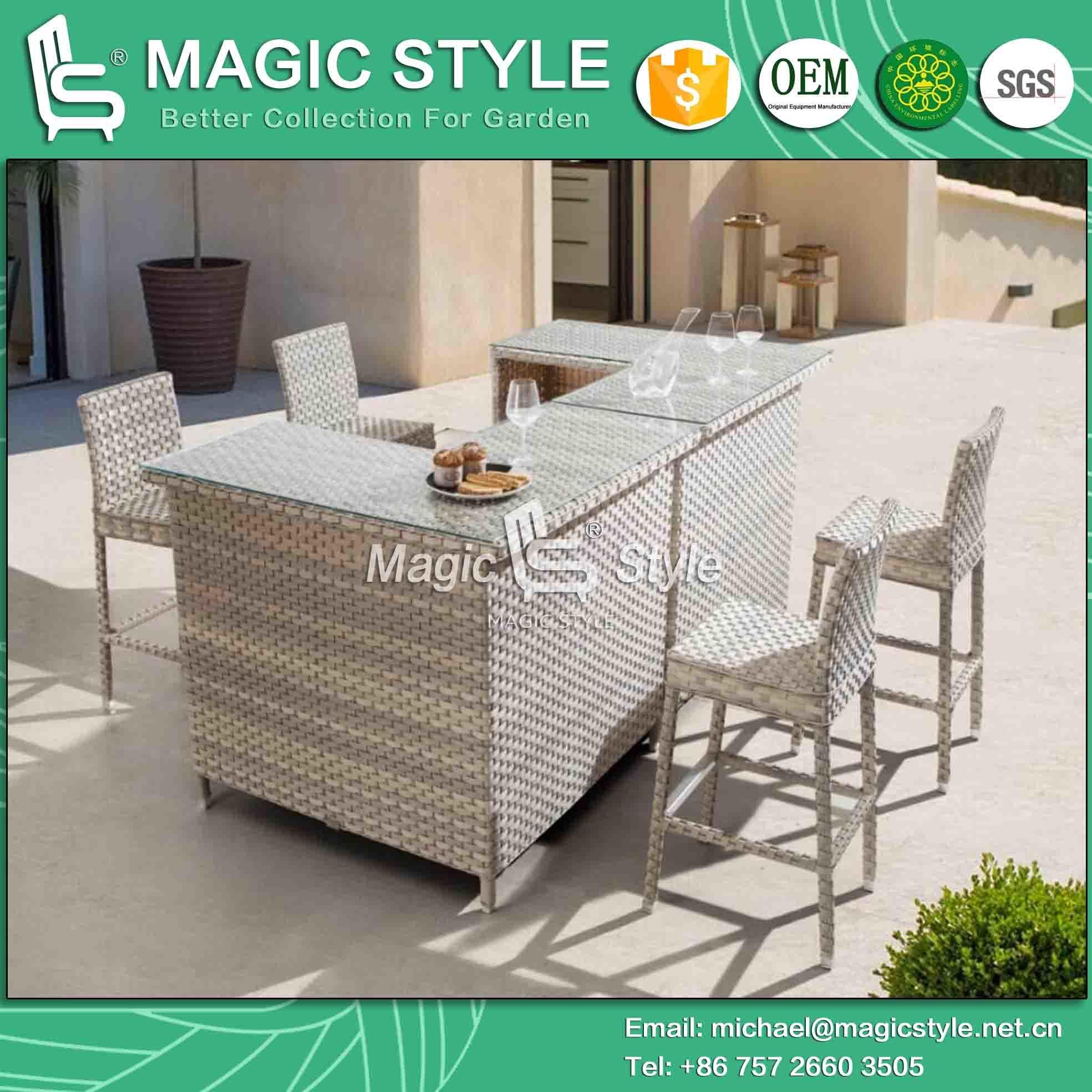 Sensational China Rattan Wicker Bar Set Outdoor Wicker Bar Stool Garden Machost Co Dining Chair Design Ideas Machostcouk