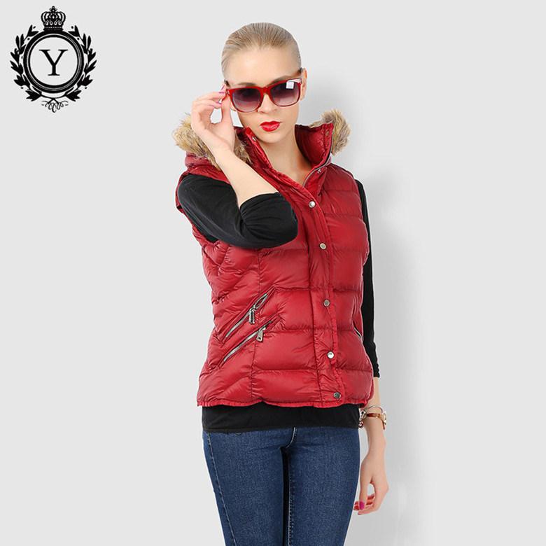 China Coutudi 2017 Fashion Women Winter Vest Jacket Solid Sleeveless Faux  Fur Hooded Jacket Coats Cotton-Padded Female Nylon Down Vest - China Down  Coat, ...