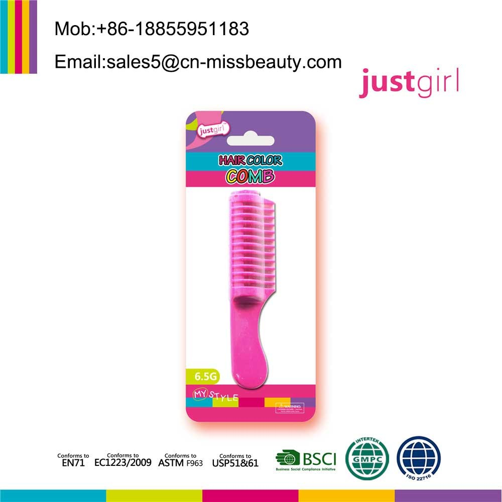 [Hot Item] Non-Toxic Temporary Easy Wash Washable Hair Coloring Comb for  Halloween