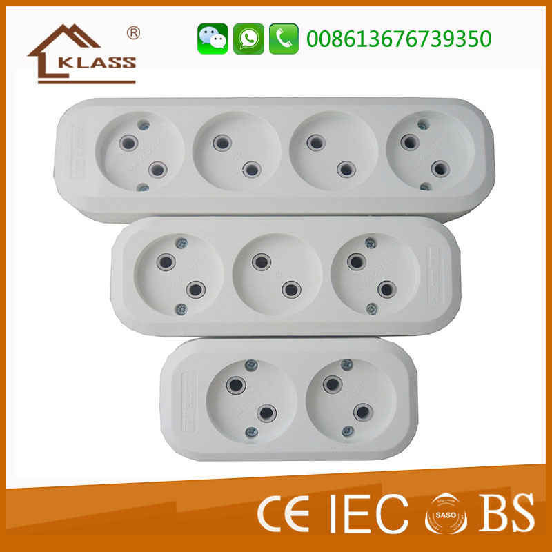 China 3 Way Electrical Plug Type Germany Electrical Socket with ...