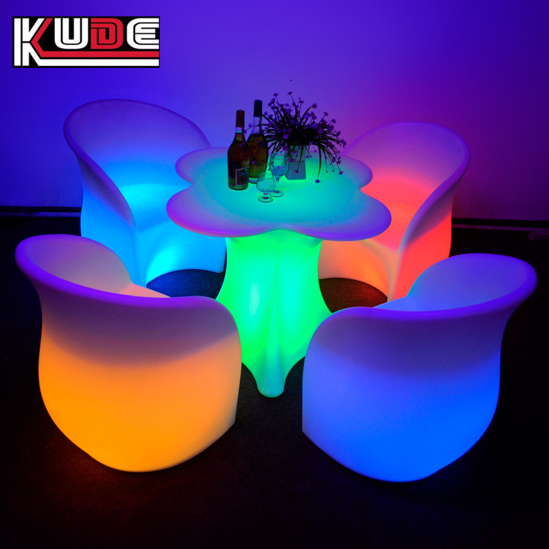 China Outdoor Led Light Table And Chaircordless With Remote Control Bar Furniture Tea