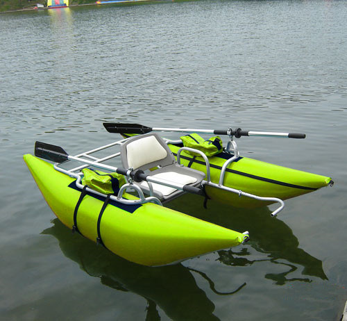 China 2018 One Person Inflatable Fishing Pontoon Boat