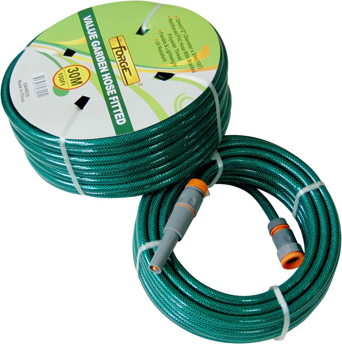 China 30m 100 Double Layer Reinforced Pvc Garden Water Hose