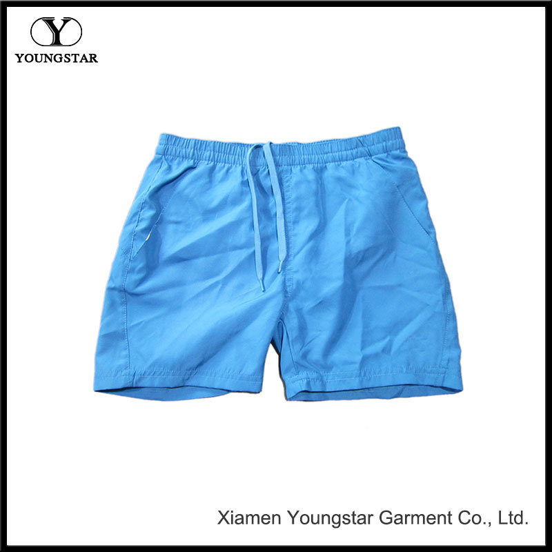 Microfiber Cool Blue Short Swimming Board Shorts Mens