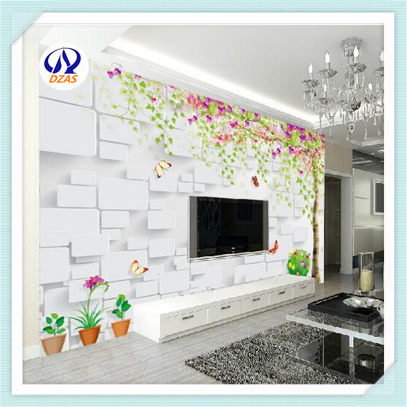 [Hot Item] 2019 Chinese Living Room TV Background Wall Wallpaper Bedroom  Hand - Painted Hi - Brow Film and Television Wallpaper Custom Murals