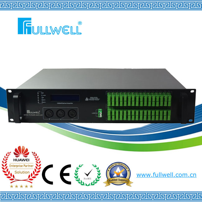 Fullwell 64/32/16/8/4 Ports Fiber Optical 1550nm CATV EDFA / CATV Amplifier (FWA-1550H-64X15)