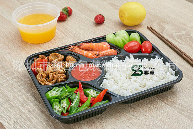 6 Compartment Disposable Plastic Takeaway Food Container (SZ-A601)