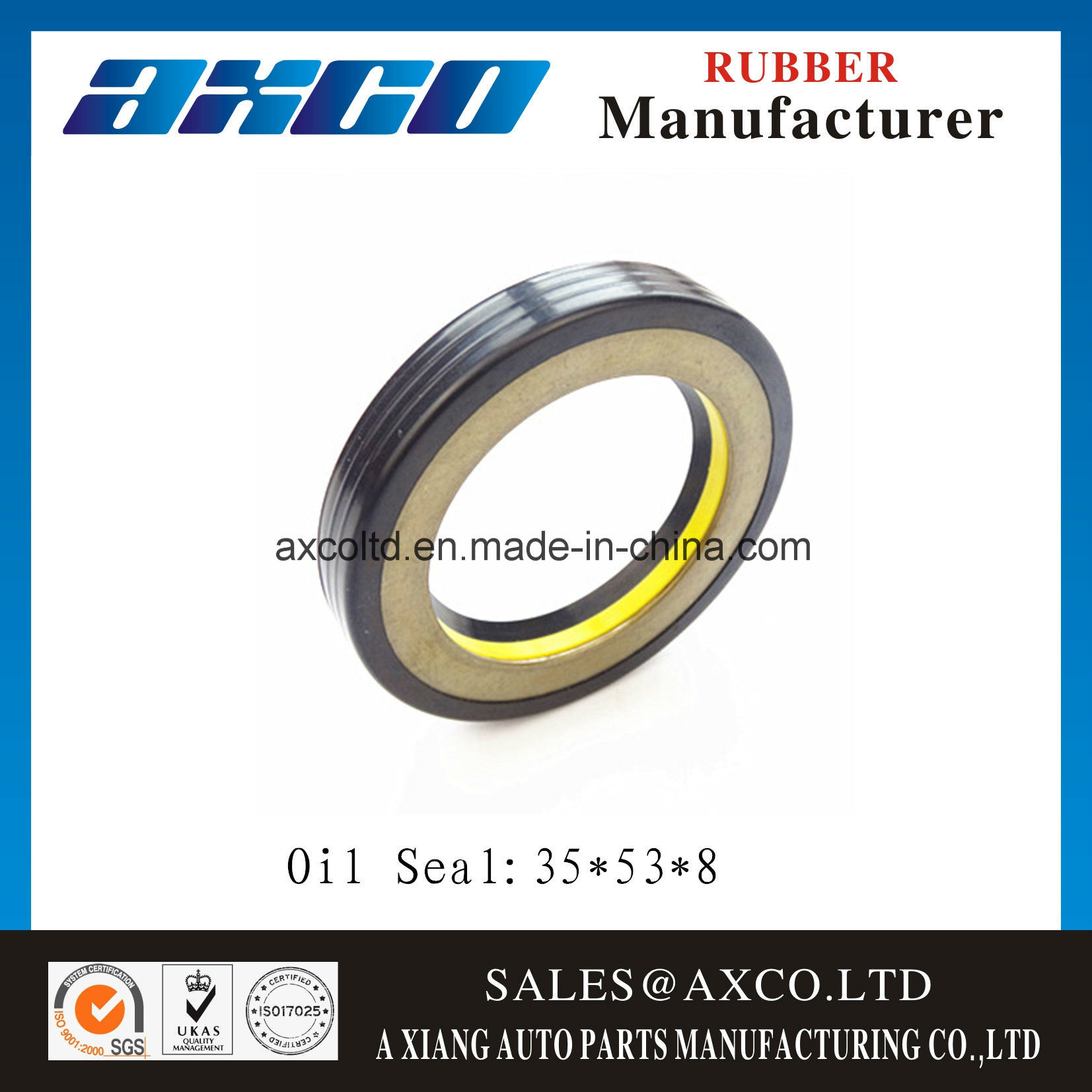 [Hot Item] Rubber Seal Power Steering Oil Seal 35*53*8
