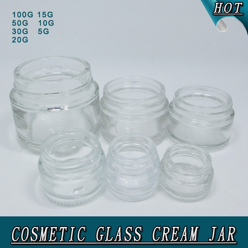 Different Size Clear Glass Cream Jar for Skin Care