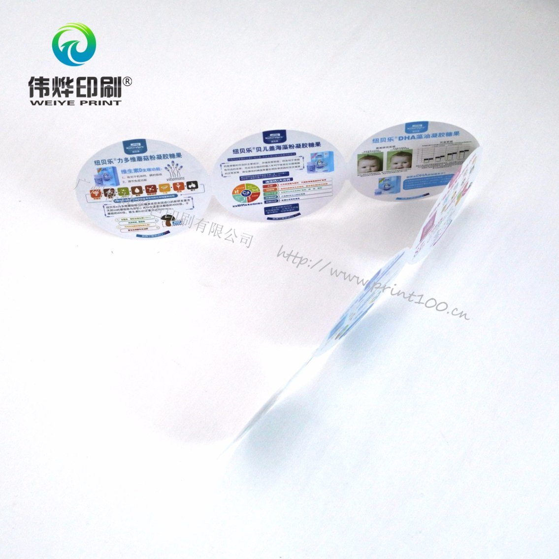 Round Shape Printing Brochures for Company Promotion pictures & photos