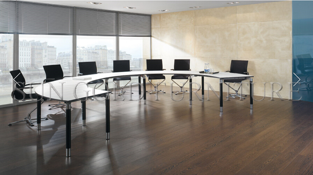 China Modern Half Round Curved Melamine Office Conference Meeting - Half circle conference table
