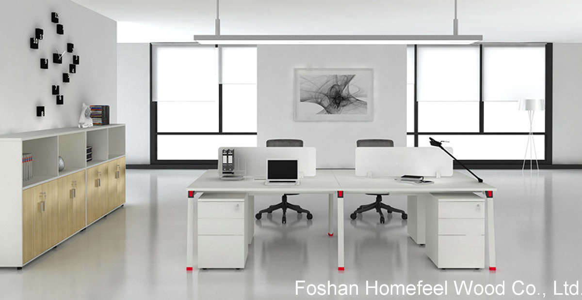 person office layout. Straight Office Layout Modern 4 Person Cubicle Workstation (HF-OFY010) 6