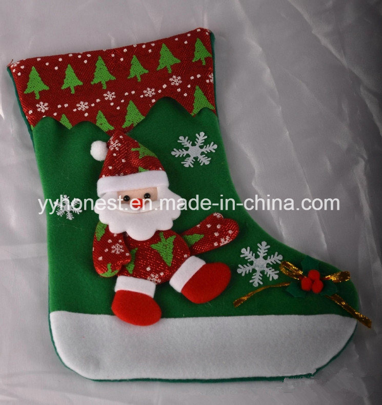 China Wholesale Christmas Decorations Present Stockings Socks - China Christmas Gift, Christmas Sock