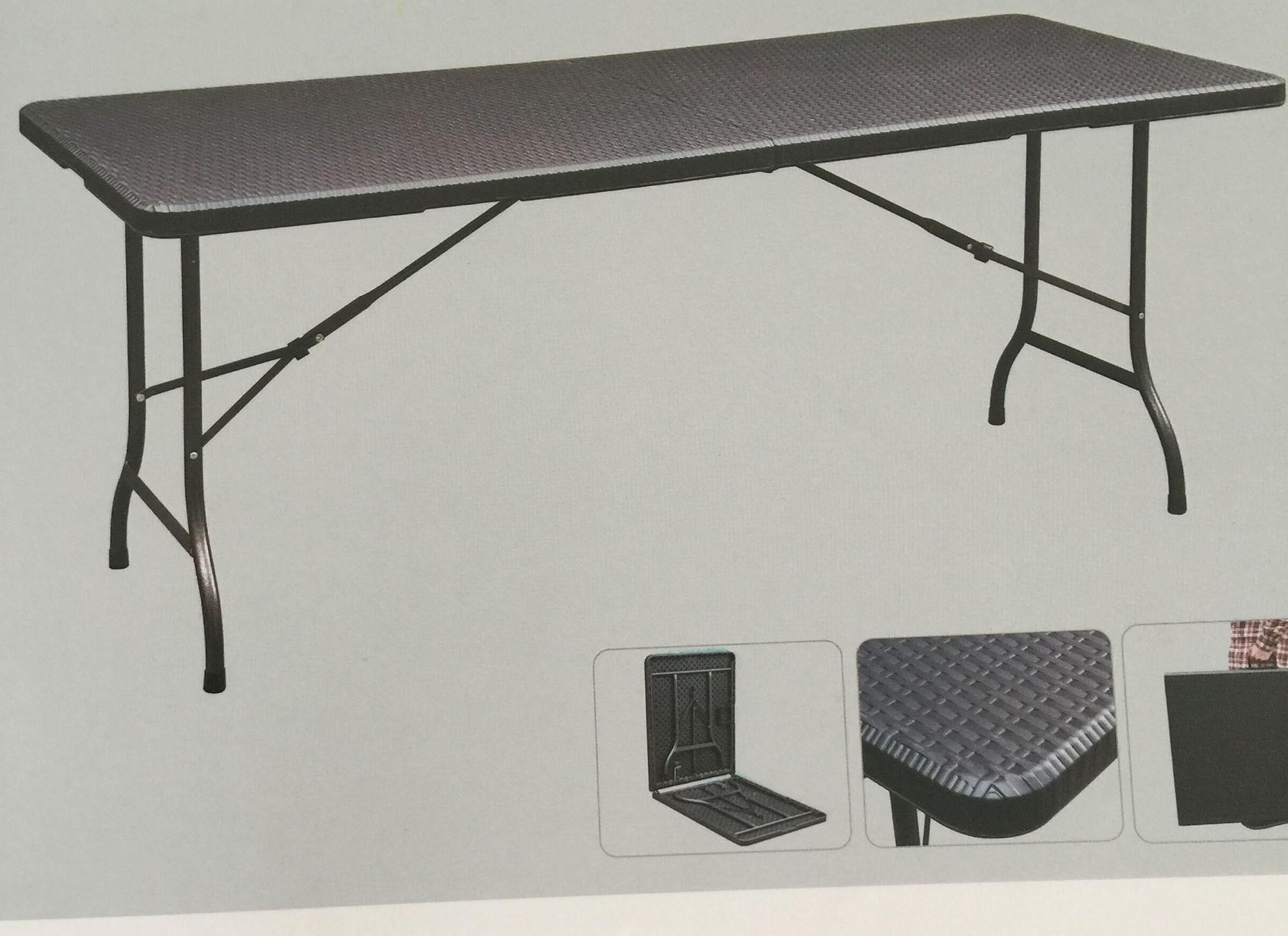 - China 6ft Plastic Folding Table Like Rattan - China Rattan Table