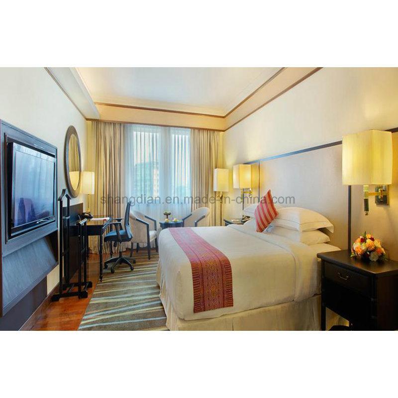 [Hot Item] 4 Star Hotel Furniture Modern Wood Bedroom Sets King Bed  Headboards for Sale