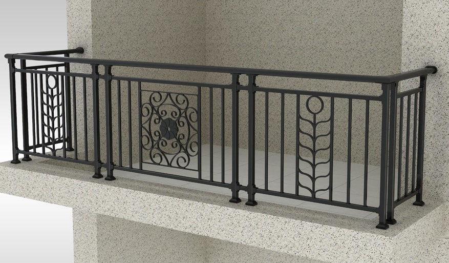 China Custom Ornamental Balcony Wrought Iron Fence ...