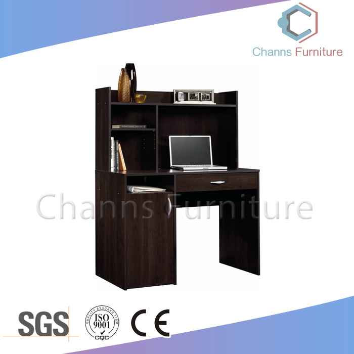China New Black Melamine Office Computer Table With Bookshelf Cas Cd1807