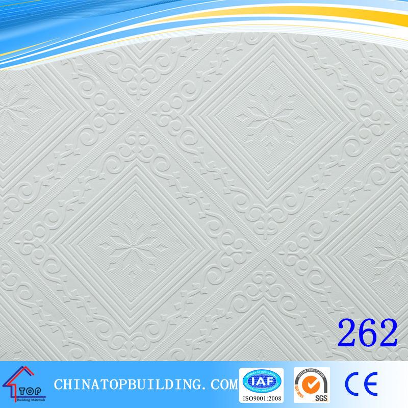 China 567 Pvc Gypsum Ceiling Tilepvc Film Faced Gypsum Ceiling