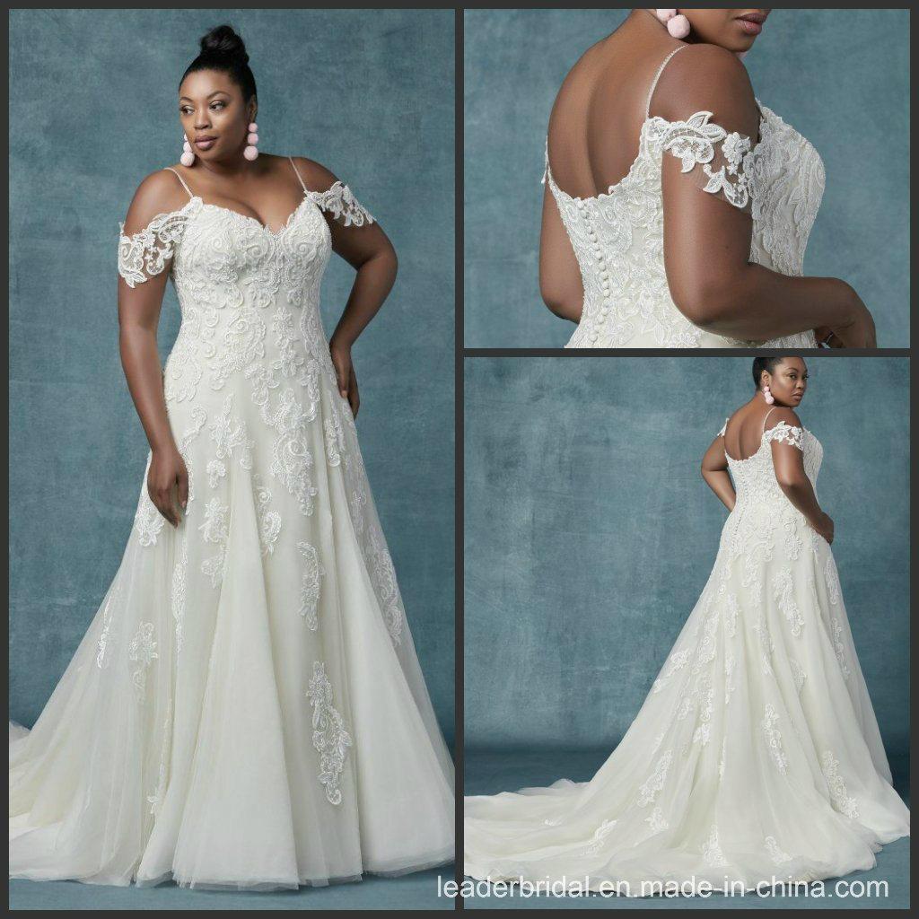 636a0583 China Custom Plus Size Bridal Gown Lace Sheath Spaghetti Wedding Dress  M9031 - China Bridal Dresses, Wedding Dresses