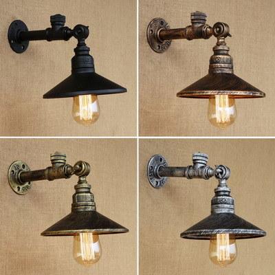 Iron Rust Water Pipe Retro Wall Lamp