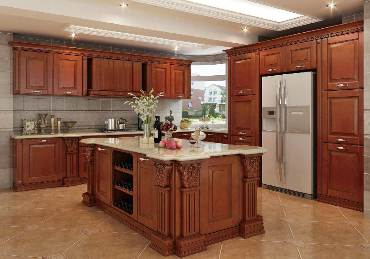 [Hot Item] Wooden Free Used Kitchen Furniture Kitchen Cabinet in China