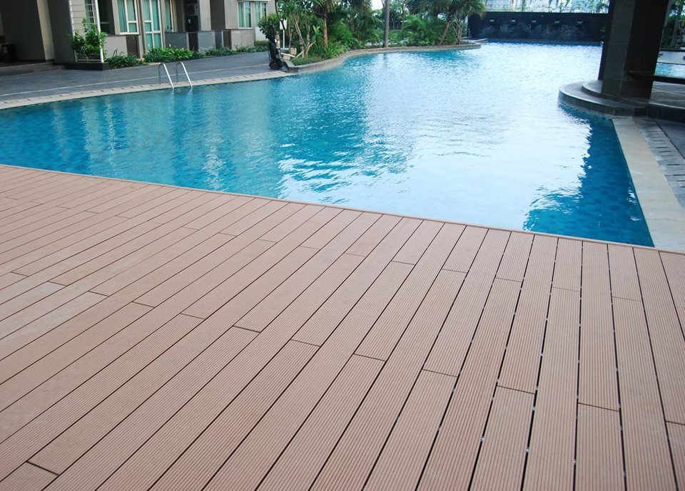[Hot Item] Wood Plastic Composite WPC Outdoor Swimming Pool Decking Factory  Price