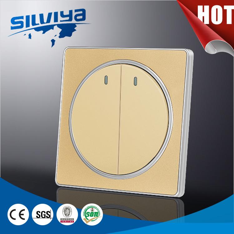 China 2 Gang Types of Electrical Wall Switches - China 2 Gang 1way ...
