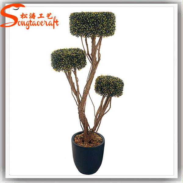 Artificial Garden Grass Buxus Balls Boxwood Topiary Trees Pots Plants