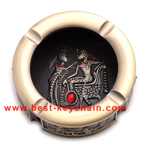 Promotion OEM Custom Souvenir Emboss Logo Metal Ashtray (BK53359)