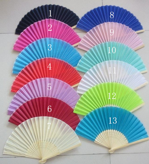 Assorted Colors Chinese Hand Fans Silk Fabric With Hot Sales China Assorted Colors Silk Fans And Colourful Chinese Hand Fans Silk Fabric Price